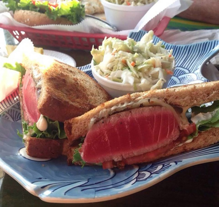 Ahi Tuna Steak Sandwich